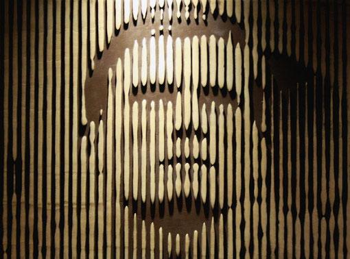 Edovincent - Giacinto - tecnica mista legno - 80 X 60