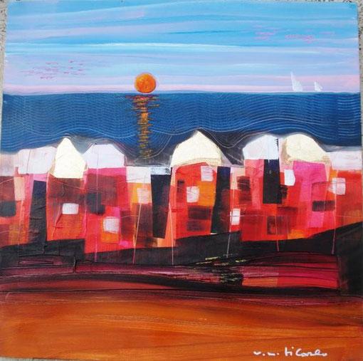 Di Carlo Vittorio Maria - Sunset - olio tela - 50 X 50