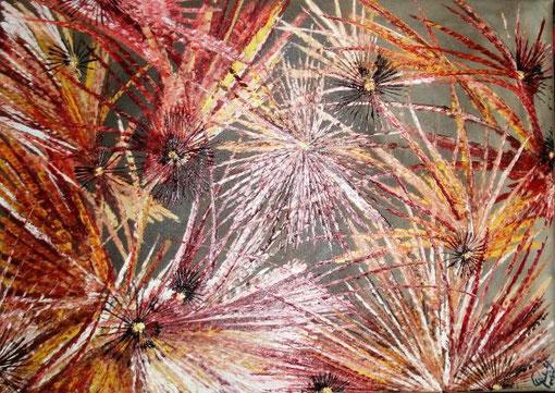 Pirela Yajaira - Ibiscus - olio tela - 70 X 50