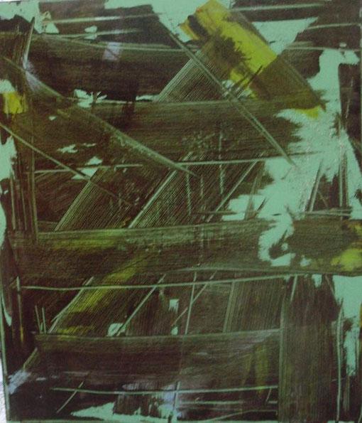 Toma Antonio - Astratto informale 31 - smalti tela - 50  X 70