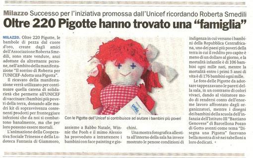 Gazzetta del Sud - 29 Dicembre 2009