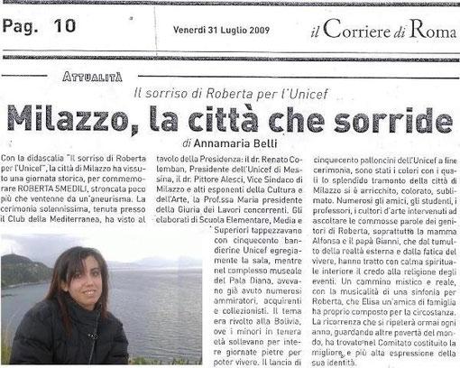Il corriere di Roma - 31 luglio 2009