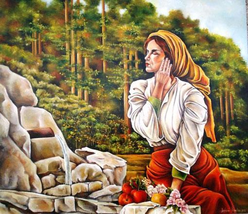 Dominici Valentina - Primavera - olio tela - 80 X 70