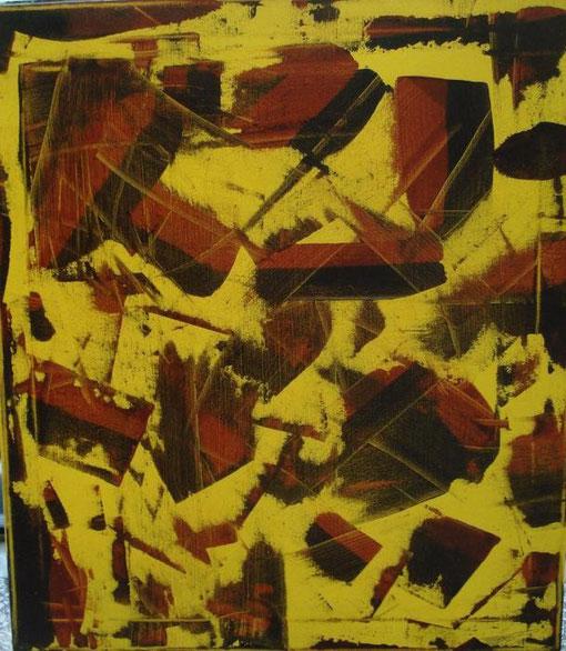 Toma Antonio - Astratto informale 25 - smalti tela - 50  X 70