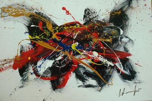 Formichetti Silvio - Teatrini - smalti tela - 30 x 20