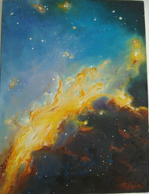 Tsvetkova Asya – Exploded star - olio tela - 30 X 40