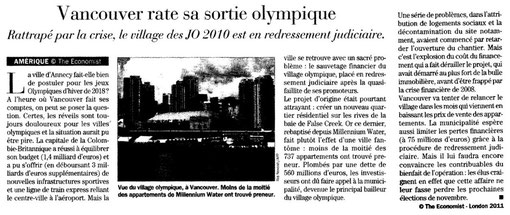 27 Janvier 2011 - Vancouver rate sa sortie Olympique