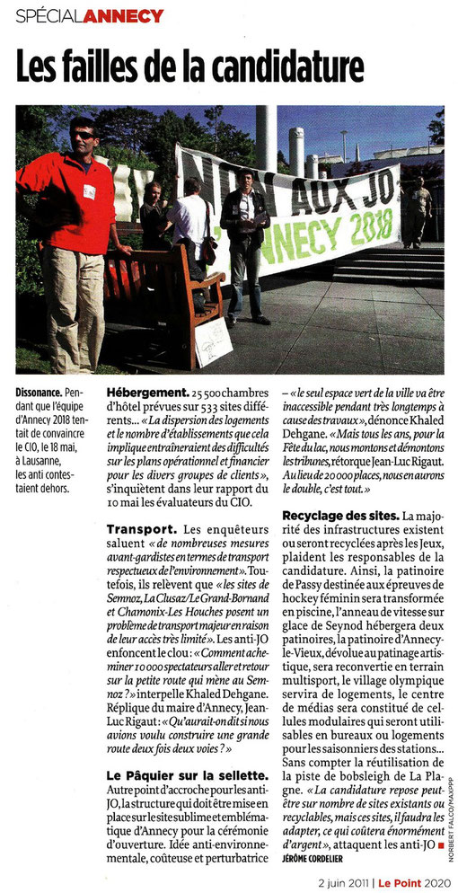 02 Juin 2011 - Le Point - Les failles de la candidature