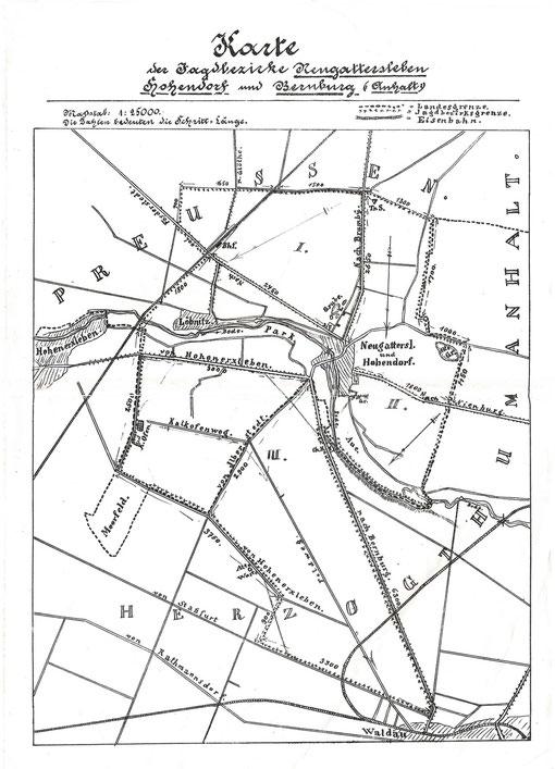 Jagdkarte 1900
