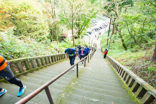 名物となった春日山神社の階段も当然上ります
