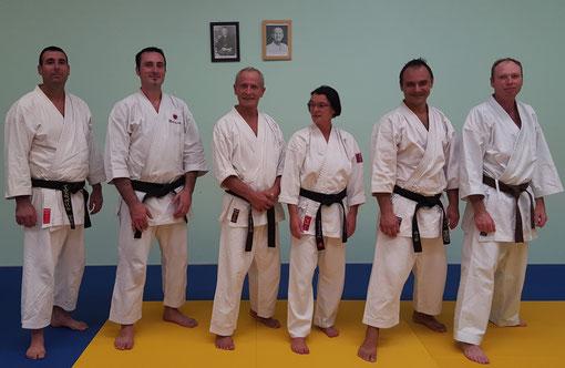 Le Bureau et les enseignants : Patrice, Kevin, Jean-Michel, Françoise, Damien et Laurent