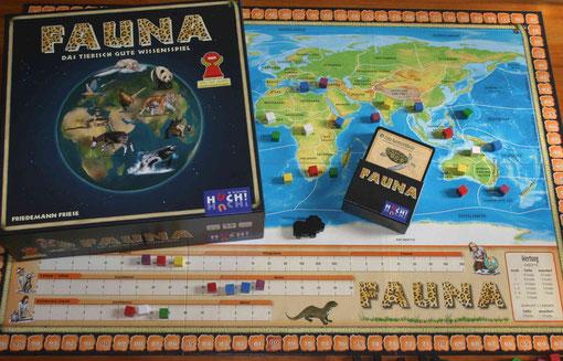 Fauna von Huch & Friends für 2-6 (7) Spieler ab 10 Jahren; Autor: Friedemann Friese