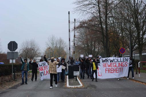 Proteste im Lager