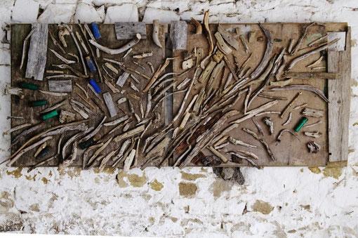 Sea of Bones  132 x 58 cm   w ood