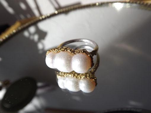 CLAS 三つ子パール 指輪