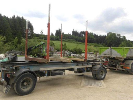 2achs Rungenwagen für Holz Fertigteile Transport