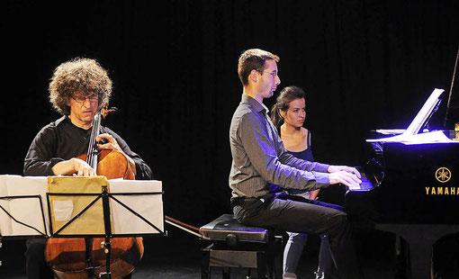 Brasilianische Cellomusik: Walter-Michael Vollhardt (Violoncello) und Clemens Flick (Klavier). Foto: w. künstle