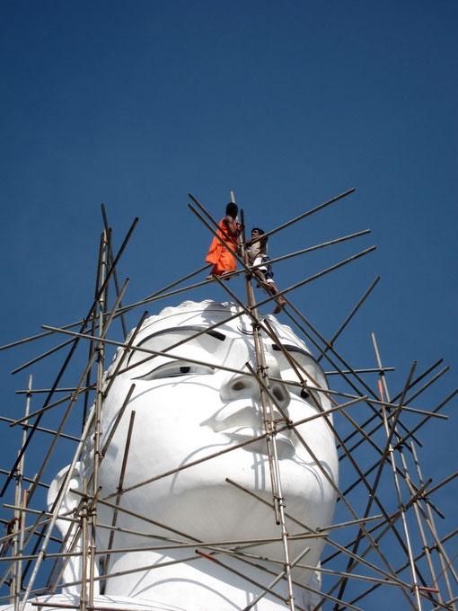 Buddha Statue Bahirawakanda Tempel Kandy Sri Lanka