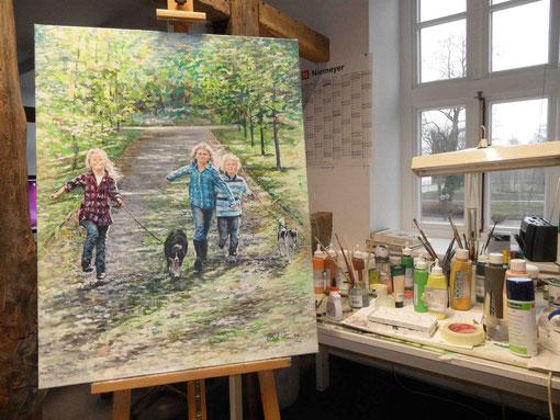 Auftragsarbeit: Portraitgruppe in Acryl