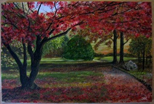 Herbst in einer Parklandschaft.