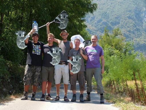 V.l.n.r. Ronald, Bart, ik, Sander en Peter.
