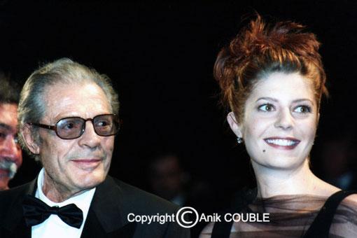 Marcello et Chiara Mastroianni - Cannes 1996 © Anik COUBLE