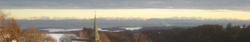 Blick am 24.02.2012 auf die schweizer Alpen.