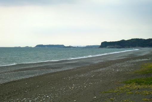王子ヶ浜から三輪崎、宇久井、勝浦、太地までを望む