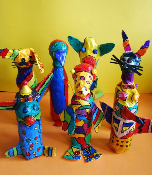 Otmar Alt, bunte Tierskupturen, Klasse 4