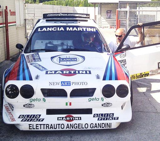 Gandini Angelo con Bruno Iannello su Lancia Delta S4 martini