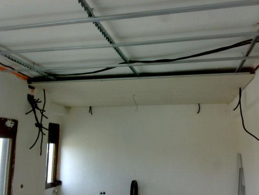 antes de terminar el techo