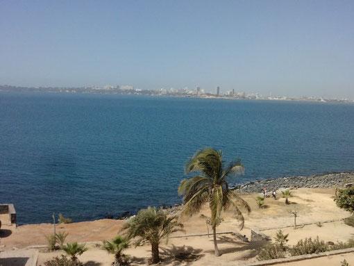 vu sur l'île de Gorée