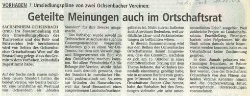 BZ über Meinung Ortschaftsrat zu Bauvorhaben Aucht vom 11.12.2003