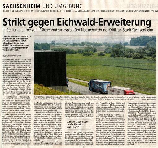 Pressemitteilung der Bietigheimer Zeitung vom 05.06.2008