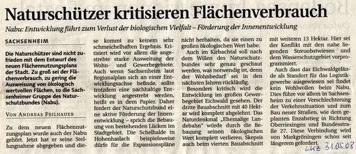 Pressemitteilung in der LKZ vom 31.05.2008