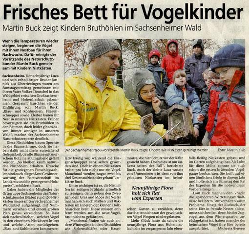 Nistkastenreinigung mit Kinder am 09.03.2008