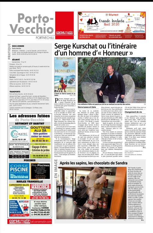 Corse Matin sur Honneur de Serge Kurschat