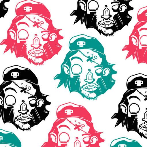#zombie #cheguevara #vector #pattern #design #picoftheday #art #kidpapaya