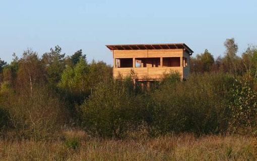 Der NABU Beobachtungsturm in Lauenbrück