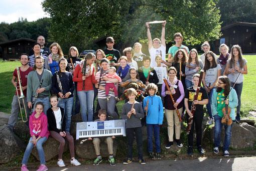 """""""The Wild Woodies"""" bei der Orchesterfahrt in Heisterberg 2014"""
