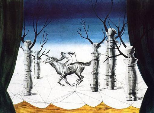 Самые известные картины Рене Магритта - Заблудившийся жокей
