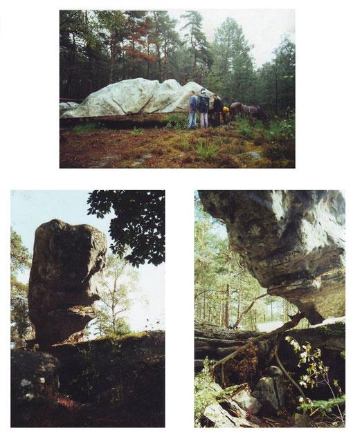 """La roche de la terreur. artiste sculpture cinéma Michel Tancelin """"leos Carax"""" """"Pola X"""""""