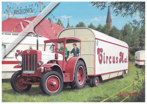 Hanomag R 45, Circus Mai, Aquarell.