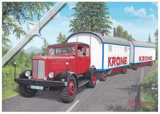Hanomag ST 100, Circus Krone, Aquarell