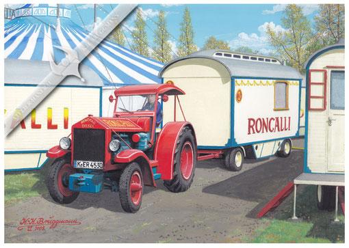 Hanomag SR 38, Circus Roncalli, 2005, Aquarell.