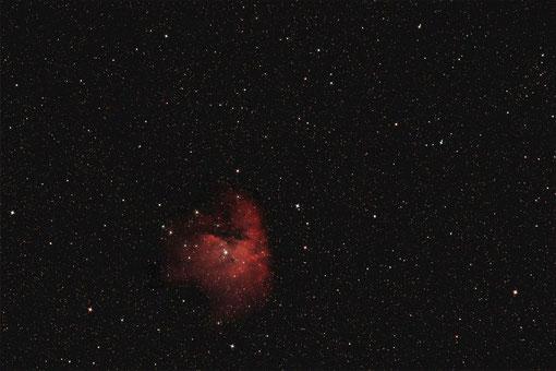 Der Pac-Man-Nebel NGC 281/IC 11 mit einer FFC 3.5/500 aufgenommen.