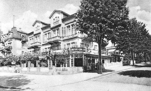 Café und Conditorei König um 1929