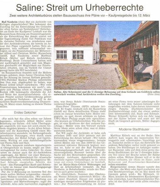 Saline: Streit um Urheberrecht, WZ 08.03.2014 Petra Ihm-Fahle
