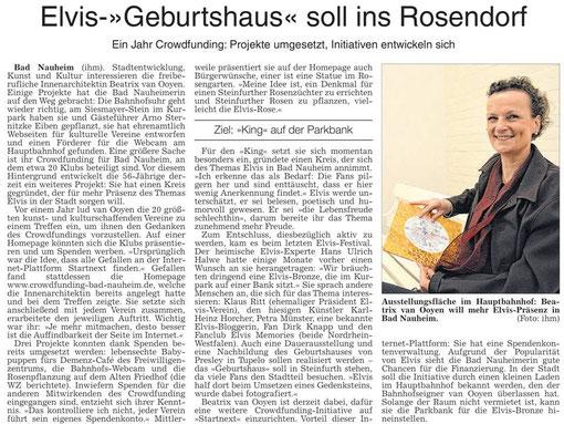 Elvis-Geburtshaus soll ins Rosendorf, WZ 24.04.2014, Text und Foto: Petra Ihm-Fahle