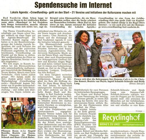 Spendensuche im Internet, WZ 05.10.2013